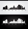 edmonton skyline and landmarks silhouette vector image vector image
