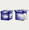 Empty cardboard box vector image vector image