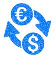 euro money exchange grunge icon vector image vector image