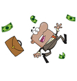 Failed African American Businessman Goes Down vector image