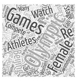 Female Athletes to Watch in the Beijing Olympics vector image vector image