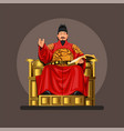 figure king sejong great from korea vector image vector image