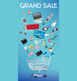 general object floating over a shopping cart vector image
