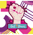 girl power memphis styles vector image