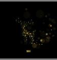 golden deer made lights on a black background vector image