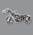 heavy motorcycle with a mechanical horse skull vector image vector image