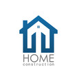 home construction logo vector image vector image