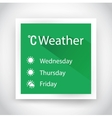 icon weather for web and mobile applications vector image vector image