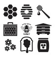 icons bees and honey vector image vector image