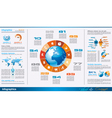infographics page with a lot design elements vector image vector image