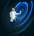 isometric business concept vector image