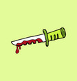 kitchen knife murder weapon crime and murder vector image