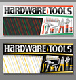 layouts for hardware tools vector image vector image