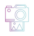 line camera technology with digital photo image vector image vector image