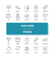 line icons set fitness vector image vector image