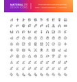 material design people icons set vector image vector image