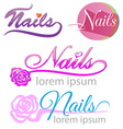 nails saloon symbol set vector image vector image