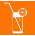 Orange juice glass vector image