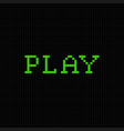 play pixel text message pixel art font vector image vector image
