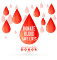 poster design for world blood donor day vector image vector image