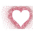 red glitter heart valentine background vector image vector image