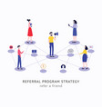 refer a friend strategy concept people vector image vector image