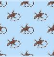 reptile amphibian seamless pattern colorful fauna vector image vector image