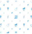 rice icons pattern seamless white background vector image vector image