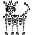 robot dog vector image vector image