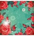 Romantic Vintage Rose Frame vector image vector image
