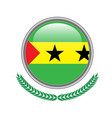 sao-tome-and-principe flag button vector image