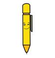 school pen kawaii character vector image