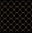 seamless black and gold background pattern vector image vector image