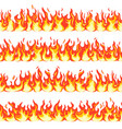 seamless fire flame dangerous flaming pattern vector image vector image
