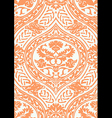 seamless floral antique pattern beige vector image vector image