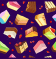 seamless pattern with sweets and cakes isolate on vector image