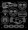 set pattern flash tattoo vector image vector image