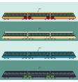 set tramtrains vector image