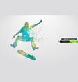 skateboarding abstract silhouette skateboarder vector image