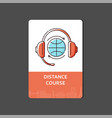 sketch web banner or flyer for apps and distance vector image