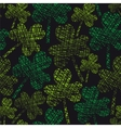 St Patricks Day vintage seamless clover pattern vector image