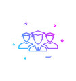 student group icon design vector image vector image