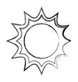 sun isolated symbol cartoon vector image vector image