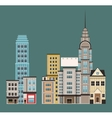 town buildings shops first floor vector image