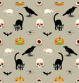traditional halloween seamless pattern vector image