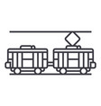 tram line icon sign on vector image vector image