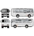 urban suburban passenger mini-bus vector image vector image