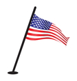 USA flag resize vector image