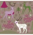 winter deers vector image vector image