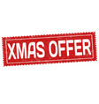 xmas offer grunge rubber stamp vector image